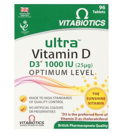 Vitabiotics Ultra D3 Tablets 96 Tablets