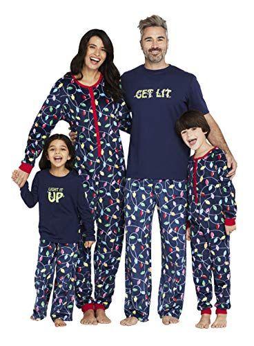 Matching Christmas PJs for Family Xmas Sleepwear Holiday Pjs Snowman Printed Top and Pants Set