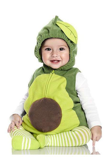 Avocado Kids Baby Boys Girls Pyjamas Onesie Green Vegetable Cartoon Animal Cosplay Sleep suit Costume