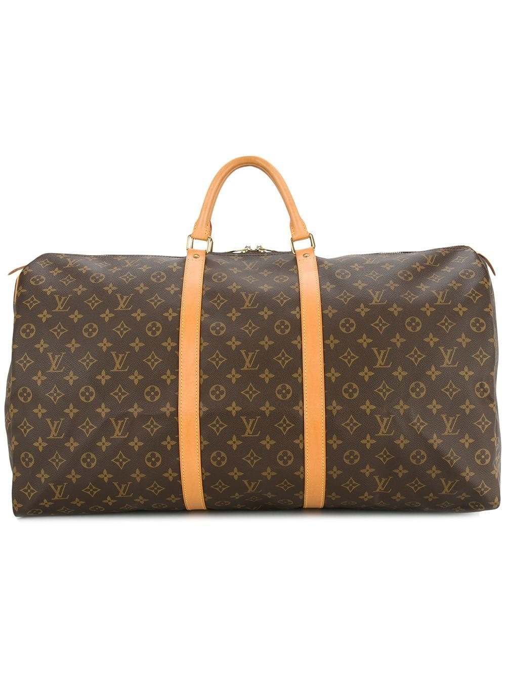 Lv Logo Pre Owned Keepall 60 Travel Bag