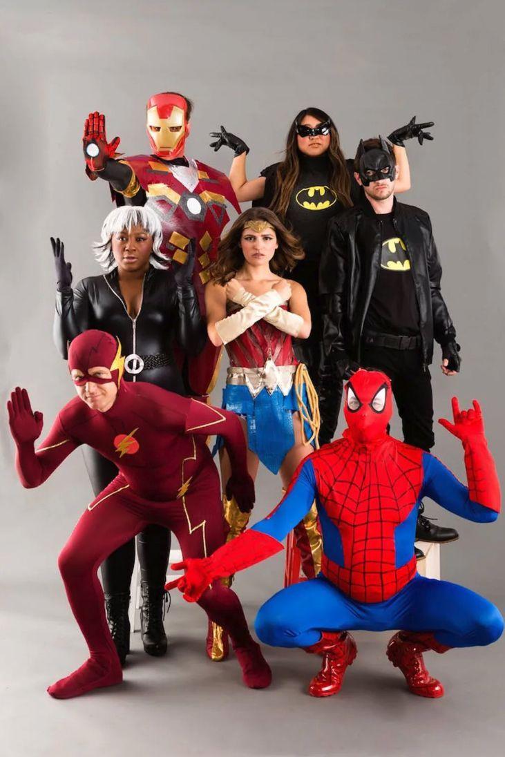 Adults Superhero Group Costume