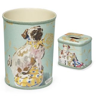 Staffordshire Wastebasket and Tissue Box Cover