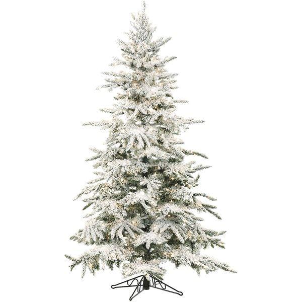 Christmas Branch Tree.Flocked Mountain Pine Christmas Tree