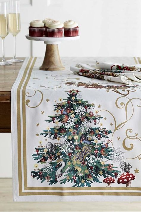 Christmas Table Runner.20 Beautiful Christmas Table Runner Ideas Best Holiday