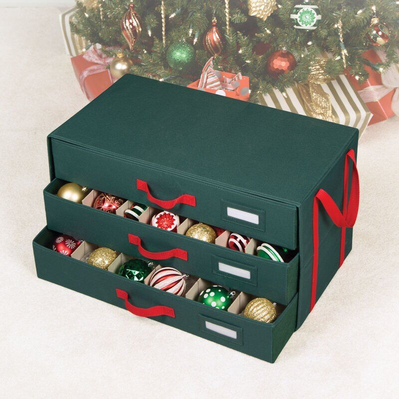 Christmas Ornament Storage.Holiday Ornament Storage Drawers