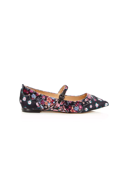 x Tabitha Simmons Women's Harriette Velvet Mary Jane Flats