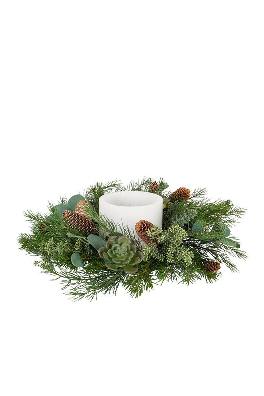 Christmas Ring.Natural Candle Rings