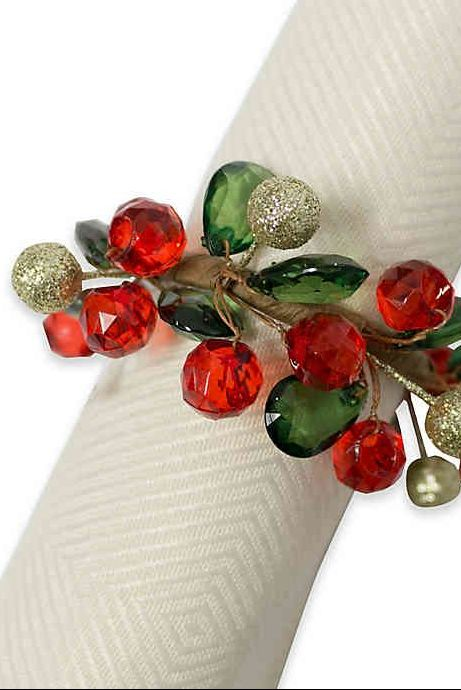 Christmas Ring.Best Christmas Napkin Rings Holiday Napkin Holders
