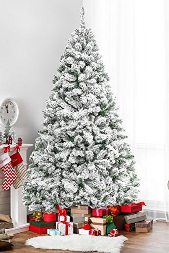 Slim Flocked Christmas Tree With Lights.20 Best Artificial Christmas Trees 2019 Best Fake