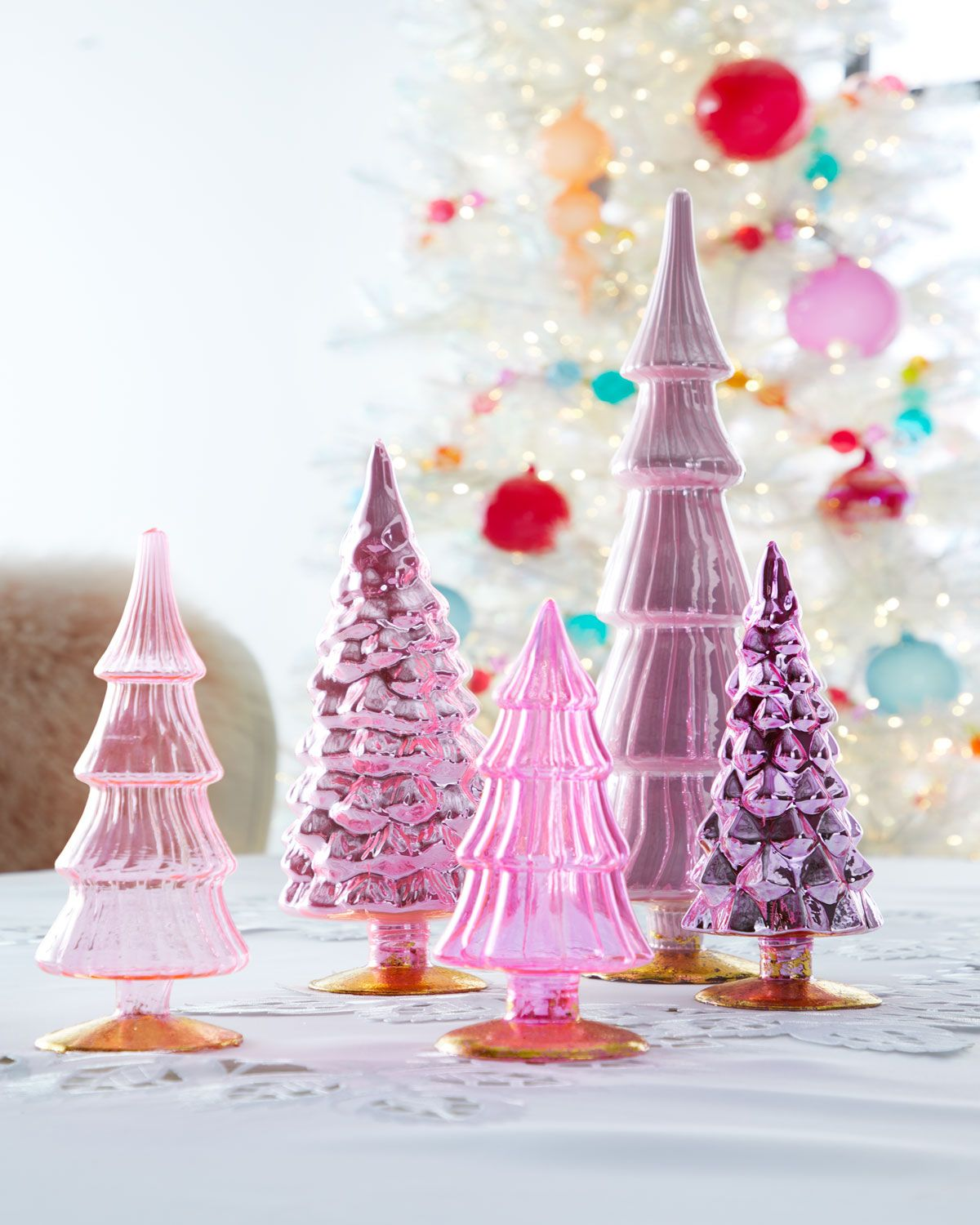 Purple Christmas Tree.A Tabletop Treat