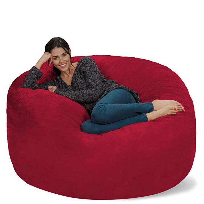 Fine Chill Sacks 5 Foot Bean Bag Chair Has Nearly 800 5 Star Alphanode Cool Chair Designs And Ideas Alphanodeonline