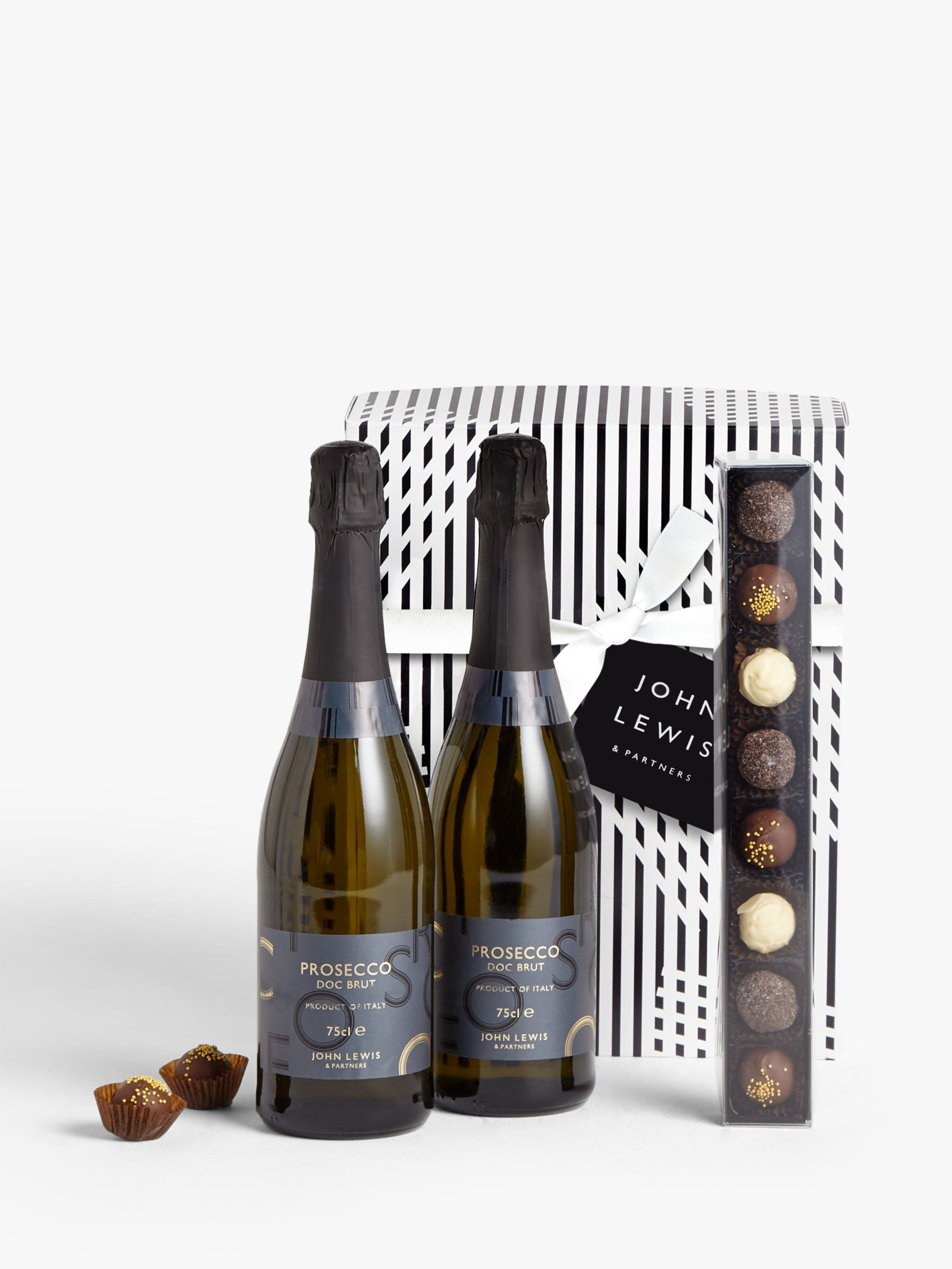 Great Christmas Gifts For Men.Prosecco Duo And Chocolates Gift Box