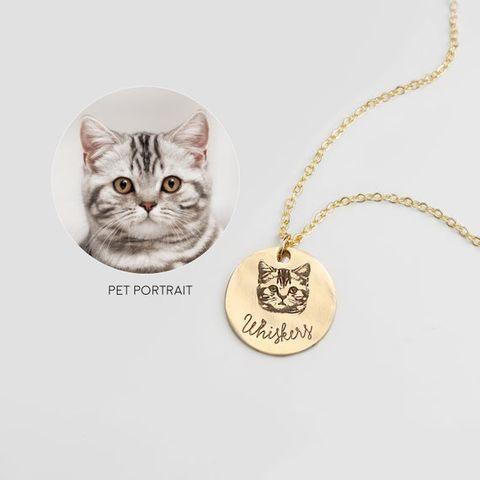 Pet Portrait Necklace