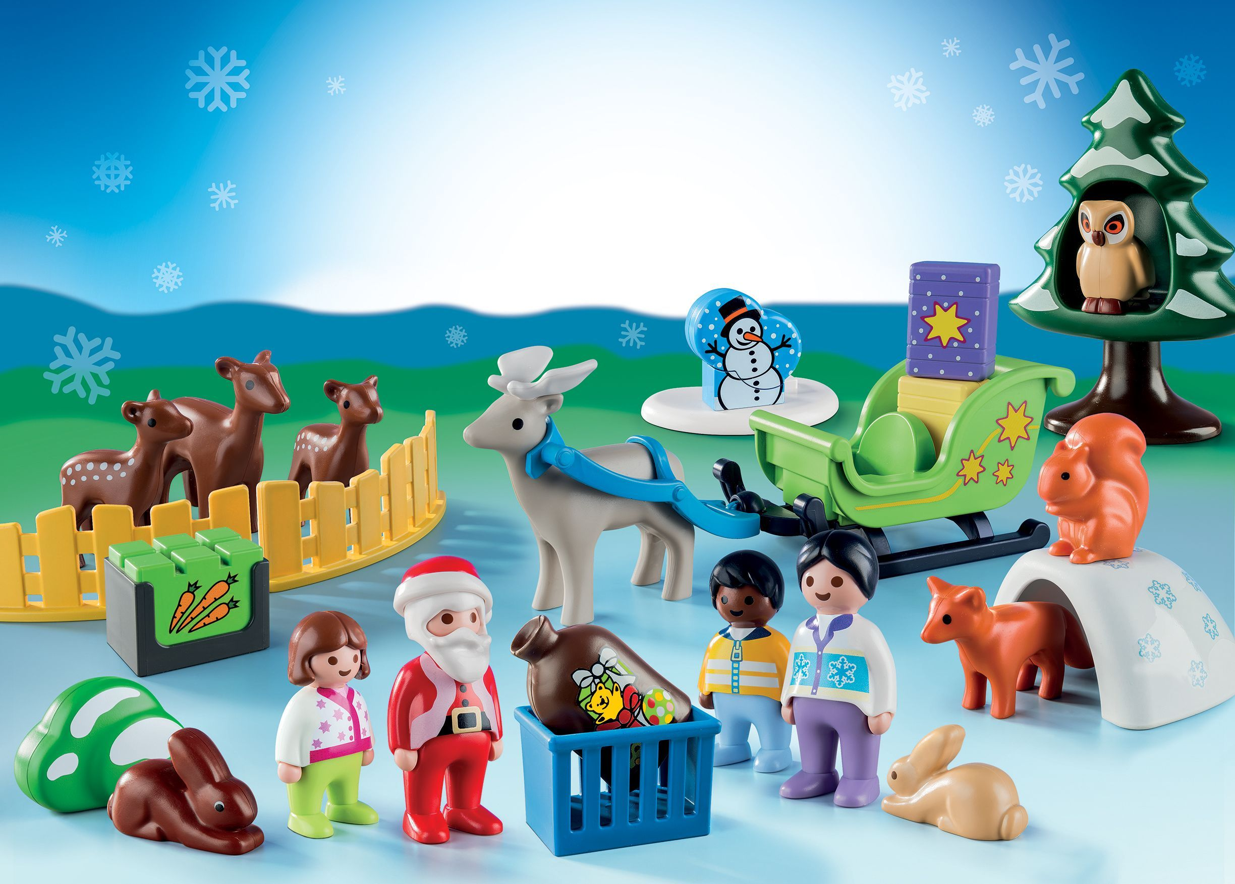 Christmas Giveaways For Kids.Playmobil Christmas In The Forest Advent Calendar