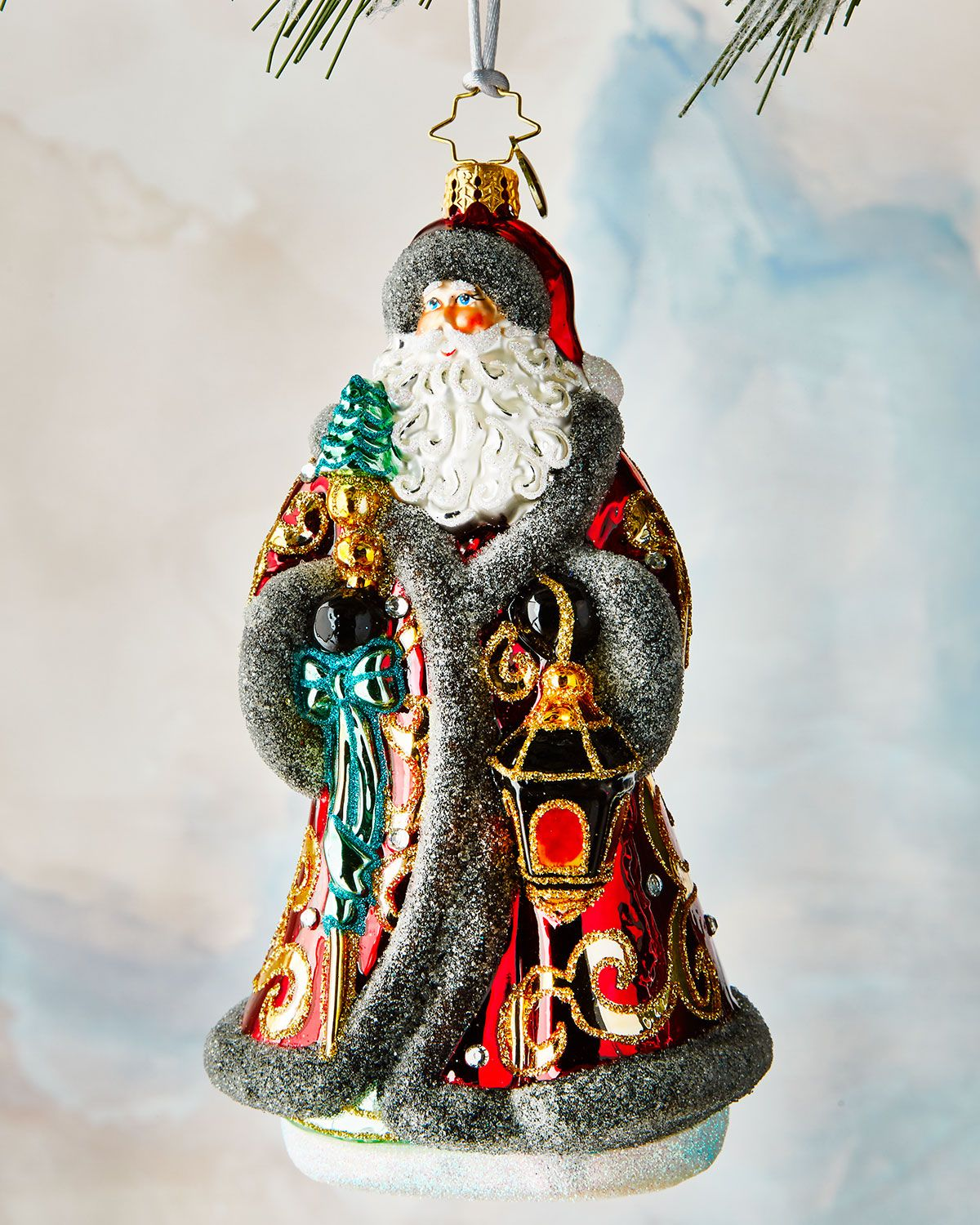 Traveling Father Christmas Ornament