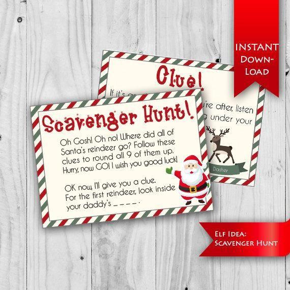 Christmas Scavenger Hunt Holiday Scavenger Hunt Clues Ideas