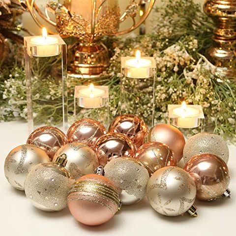 21 Pretty Rose Gold Christmas Decorations Best Rose Gold Ornaments