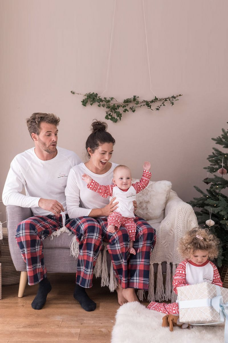 Family Christmas.Personalised Embroidered Christmas Family Pyjama Set