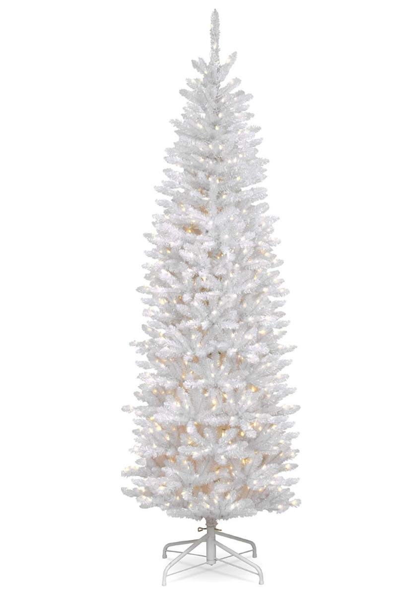 Christmas Trees Craft Embellishments x 20 White with Black Swirl Pattern