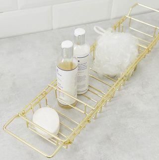 Gold bath tray
