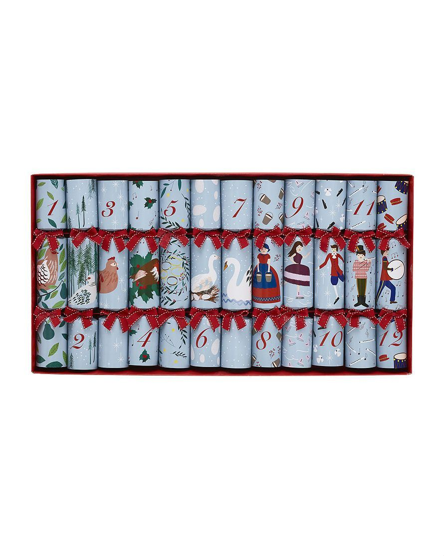 12 Days Of Christmas Crackers Set Of 12