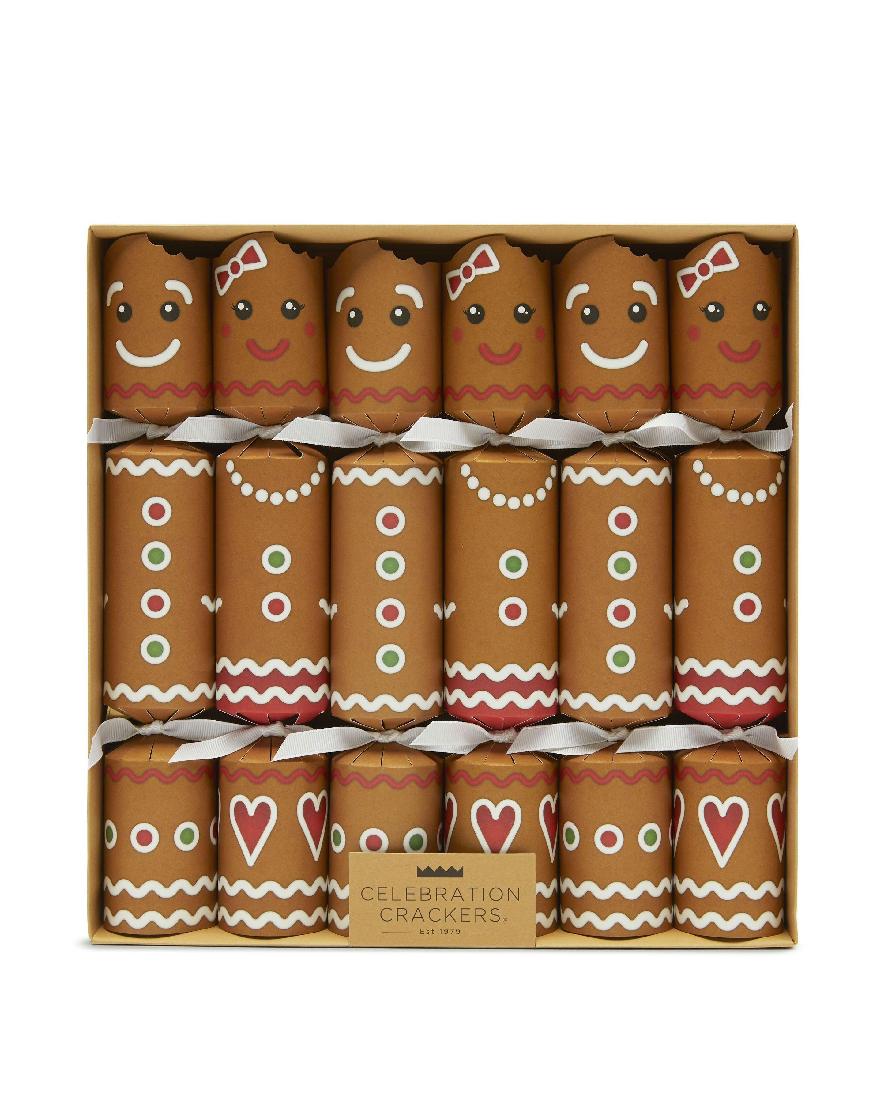 Christmas Crackers Contents.Gingerbread Christmas Crackers Set Of Six