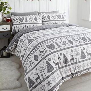 Quilt Duvet Cover Christmas Bedding Set