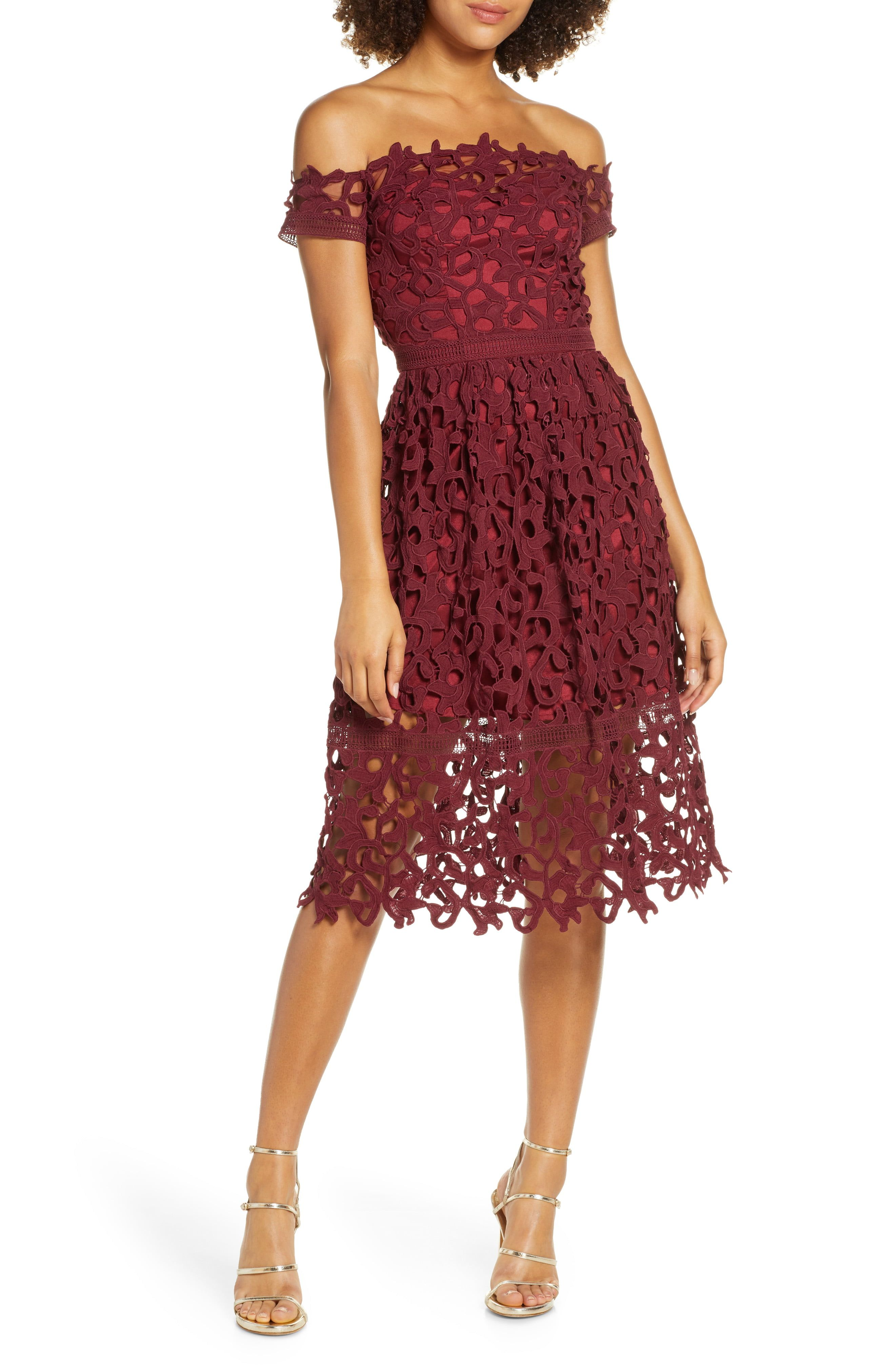 shopping new style of 2019 release info on Off the Shoulder Lace Cocktail Dress