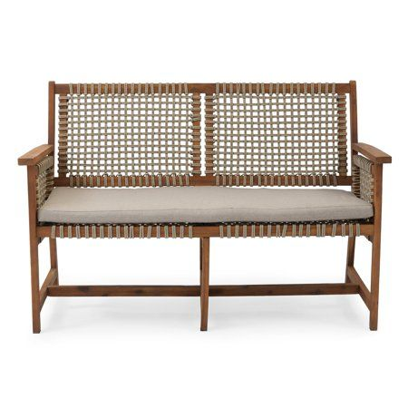 Cool Belham Living Raeburn Wood And Rope Outdoor Bench Bralicious Painted Fabric Chair Ideas Braliciousco