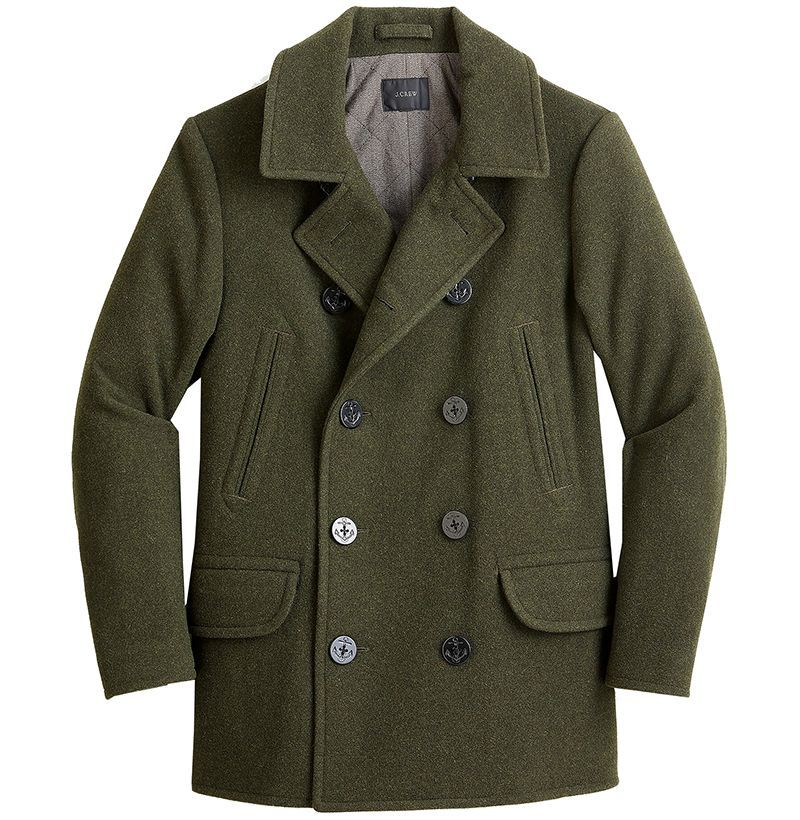 YOUTHUP Mens Coats Slim Fit Wool Overcoat Thick Winter Trench Coat Casual Peacoats
