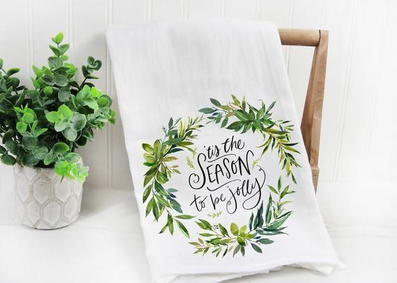 Coming Home For Christmas Cotton Tea Towel