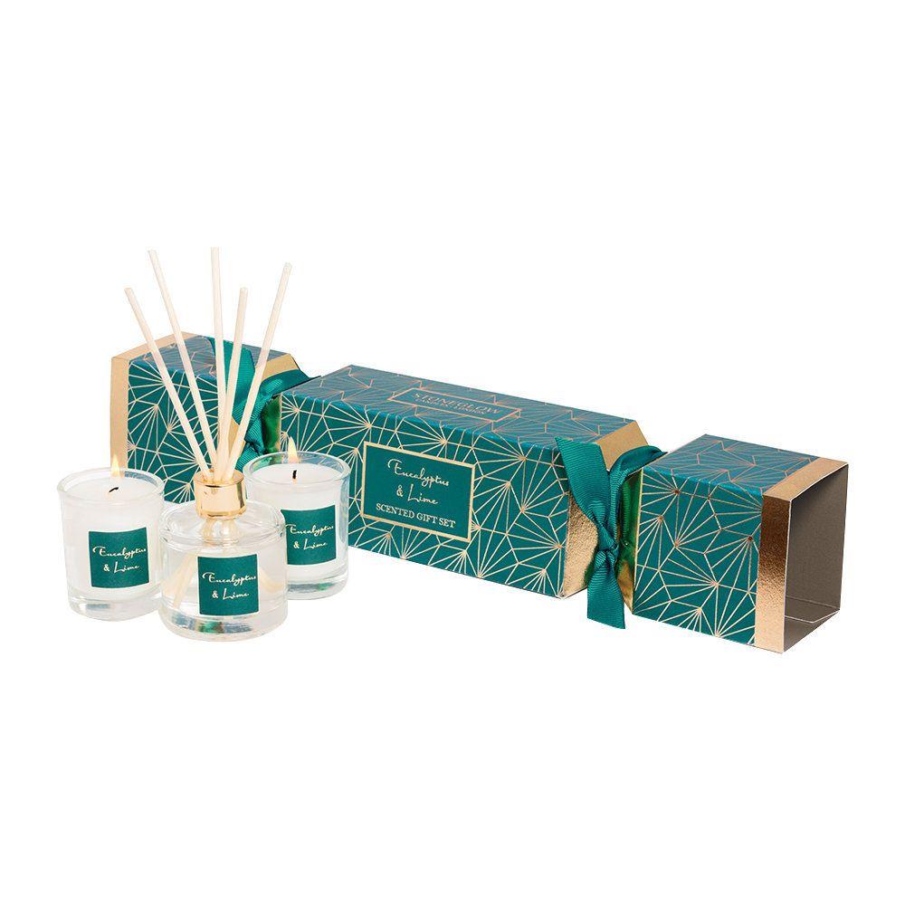 Christmas Crackers Contents.Eucalyptus Lime Christmas Cracker Gift Set