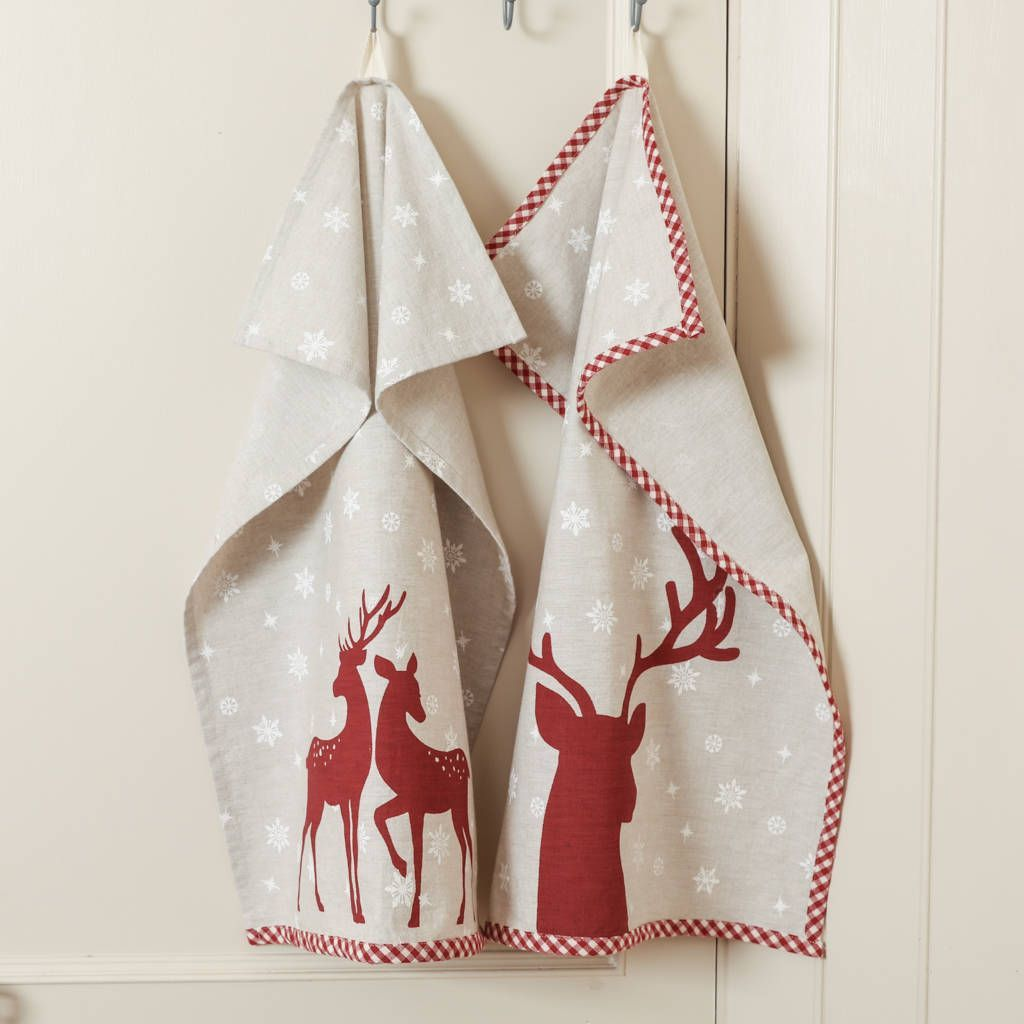 16 Best Christmas Tea Towels Christmas Kitchen Accessories