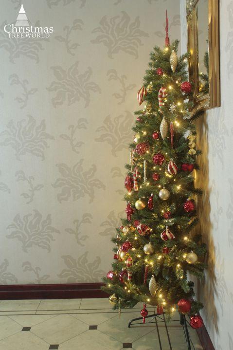 Half Christmas Tree.The 4ft Pre Lit Ultra Devonshire Half Tree Warm White Lights
