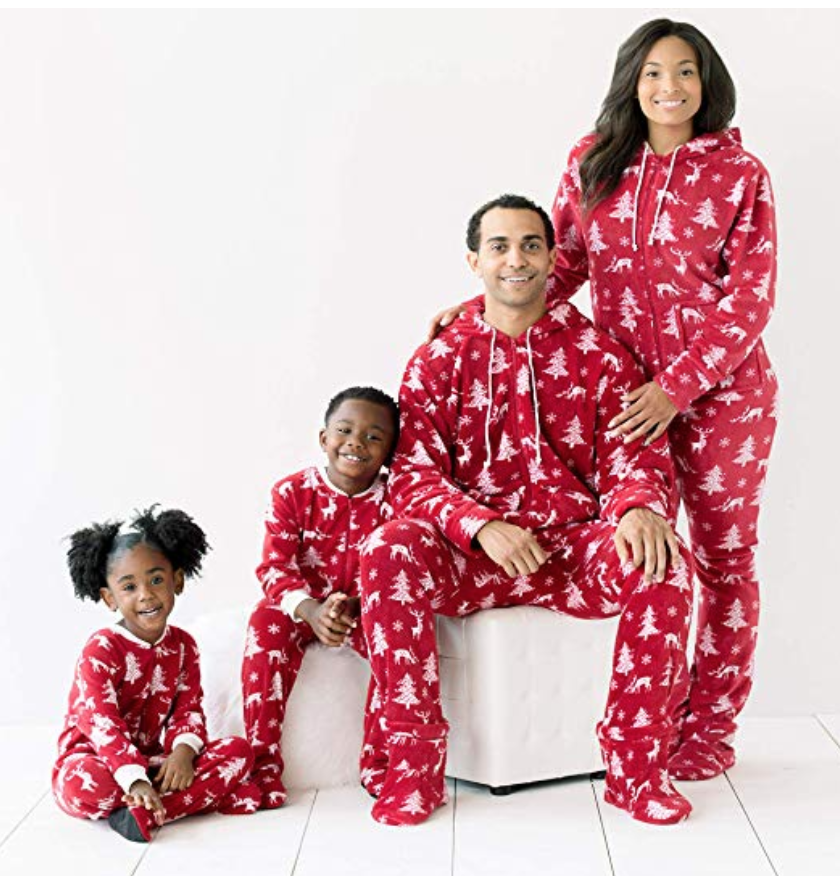 Rnxrbb Family Christmas Pajamas Set Matching Men Women Youth PJs Tops Bottoms Warm Classic Red Colors