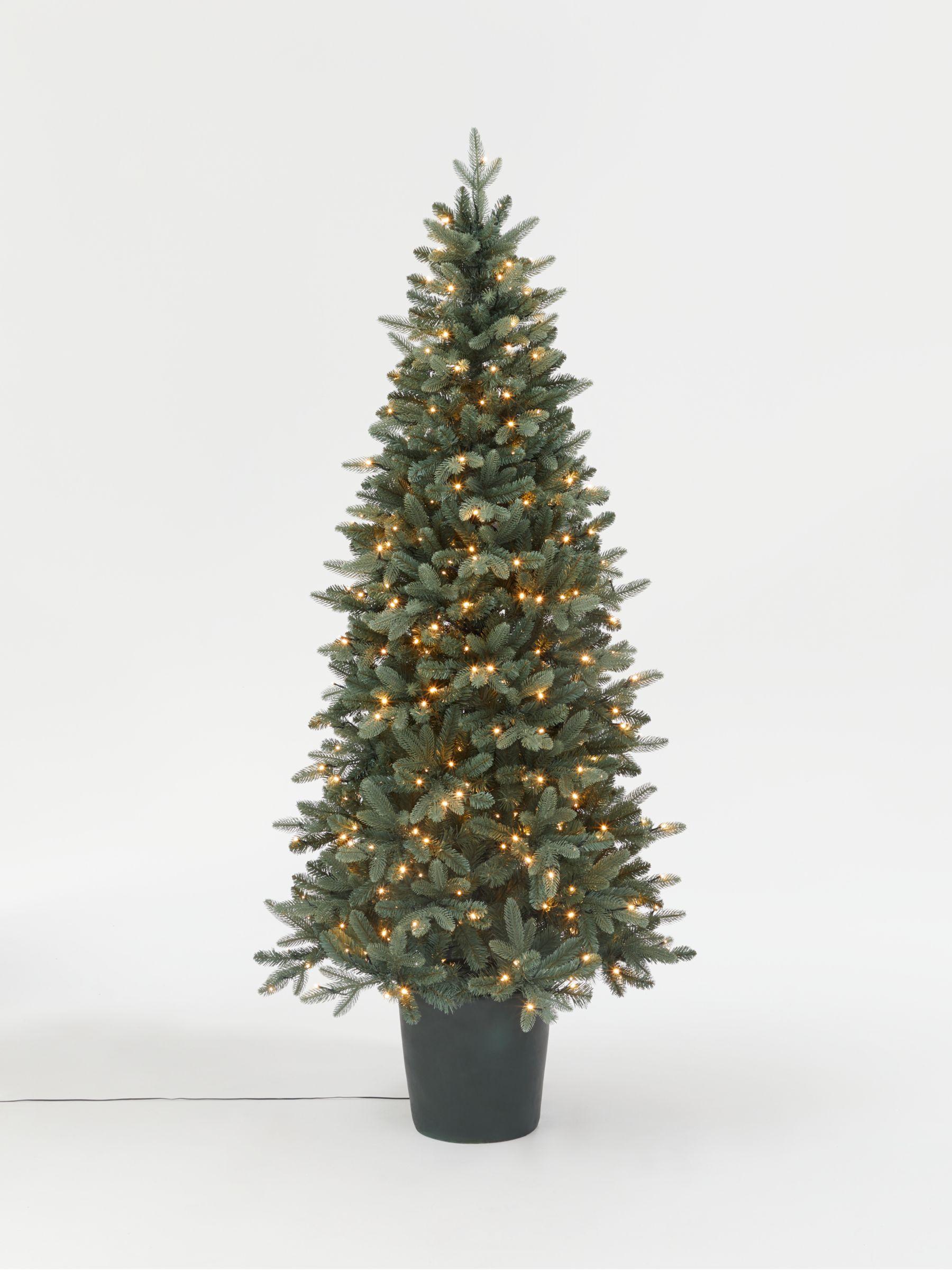 Bala Blue Potted Pre lit Christmas Tree 7ft