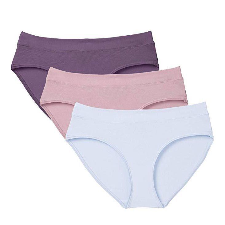 Set of 3 Womes Lace Back Bikini Lingerie Soft Panty Underwear Sz L US Seller