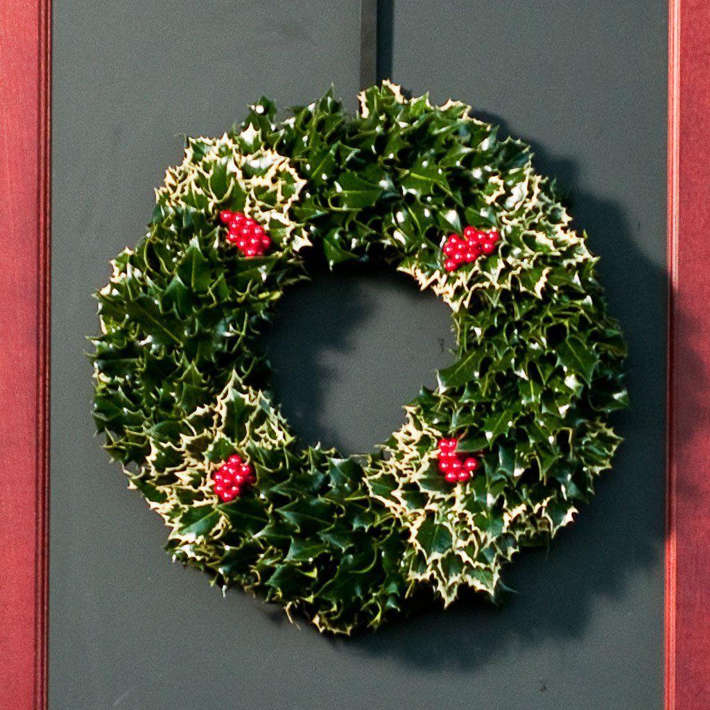 Mixed English Holly Wreath