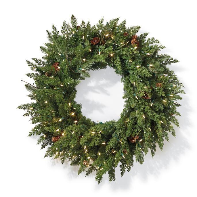 Christmas Reef.Dried Oak Leaf Wreath