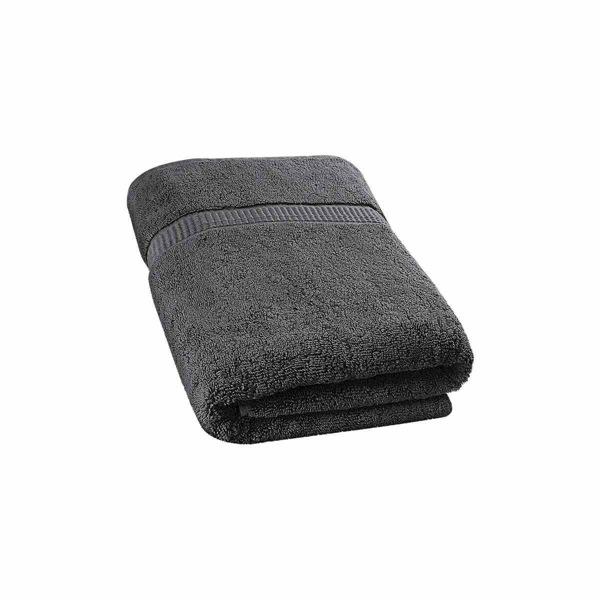 35-Inch-by-70-Inch Soft Cotton Machine Washable Extra Large Bath Towel Gray