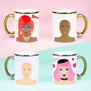 Dress up your Drag Queen sticker mug