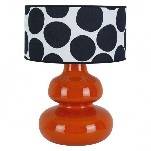Shinny Red and Black Ceramic Table Lamp