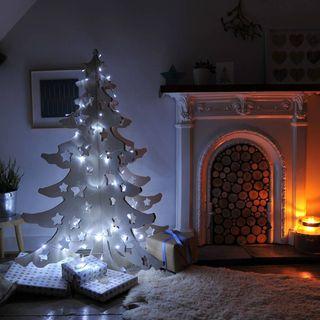 Arbre de Noël en bois de 4 pieds