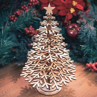 Stickers4 Craft Décorations de neige en bois pour sapin de Noël - Créez vos propres décorations Décorations de Noël