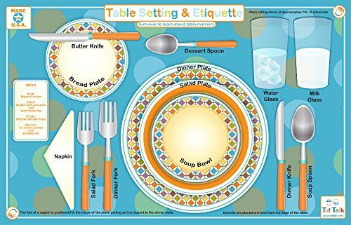 Swell Table Setting Place Mat For Kids Machost Co Dining Chair Design Ideas Machostcouk