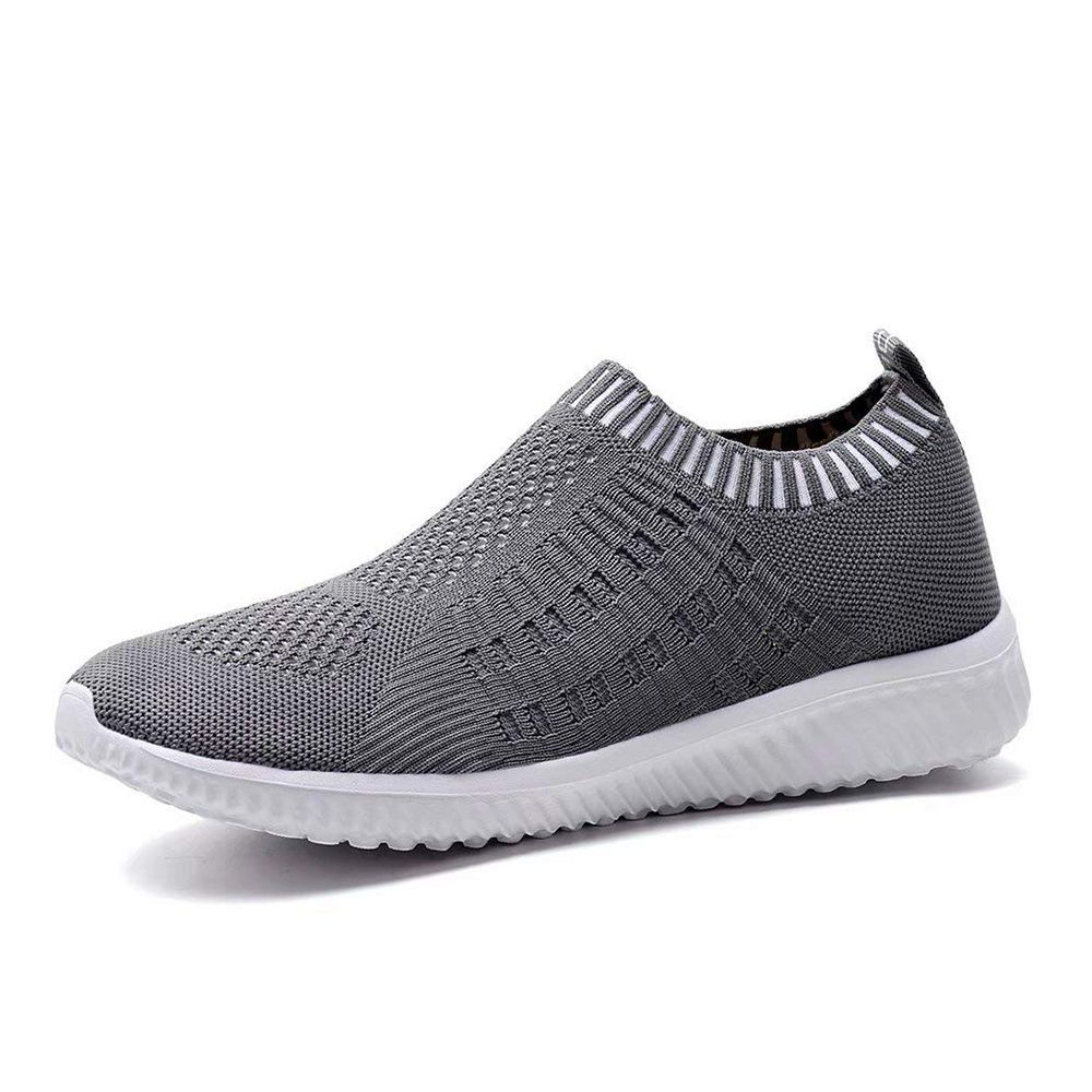 Ladies Get Fit Go Walking Slip On Gym Fitness Cushioned Sole Trainers Shoes Size