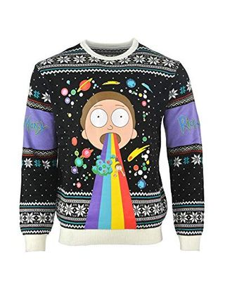 Rainbow Morty Christmas Jumper