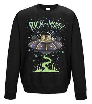 Rick and Morty Spaceship Crew Neck Sweatshirt