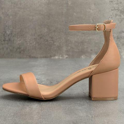 Nude Comfortable Heels