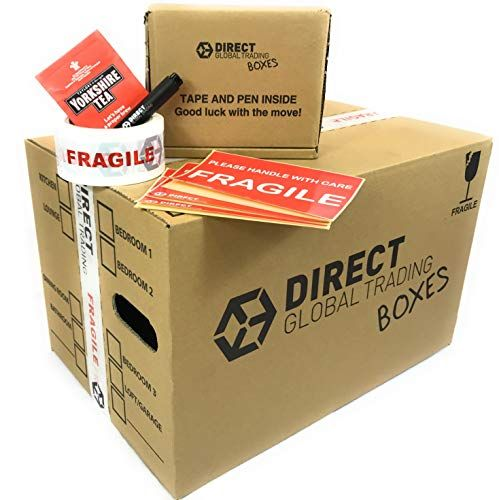20 LARGE REMOVAL MOVING STORAGE CARDBOARD BOXES TAPE